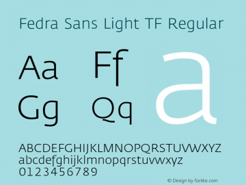 Fedra Sans Light TF