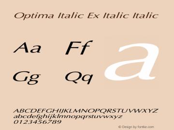Optima Italic Ex Italic
