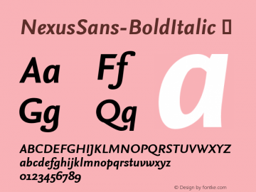 NexusSans-BoldItalic