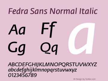 Fedra Sans Normal