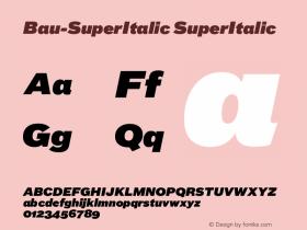 Bau-SuperItalic