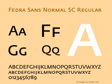Fedra Sans Normal SC