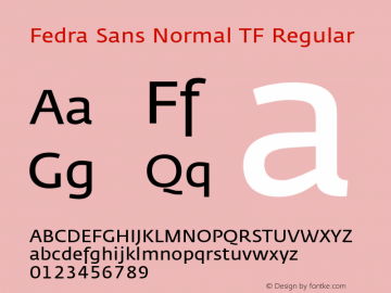Fedra Sans Normal TF