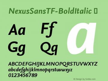 NexusSansTF-BoldItalic
