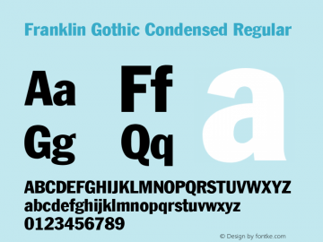 Franklin Gothic Condensed