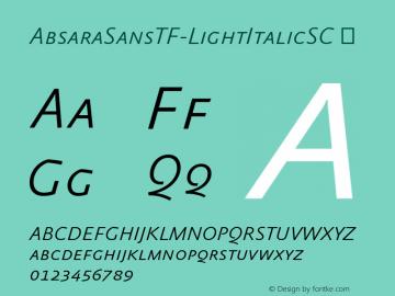 AbsaraSansTF-LightItalicSC