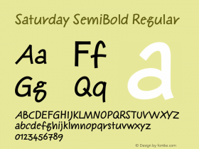 Saturday SemiBold