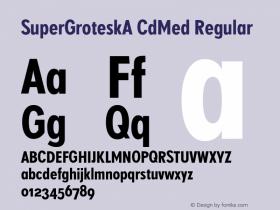 SuperGroteskA CdMed