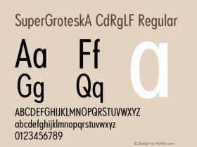 SuperGroteskA CdRgLF
