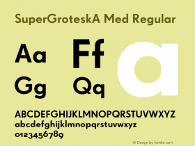 SuperGroteskA Med