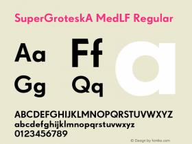 SuperGroteskA MedLF