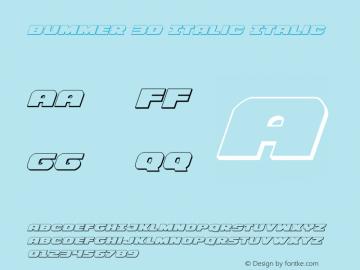 Bummer 3D Italic