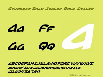 Ephesian Bold Italic