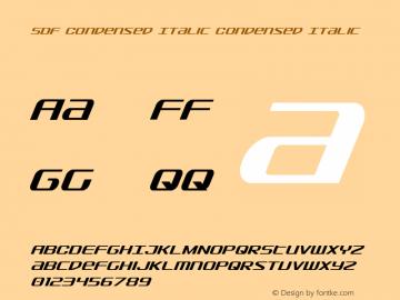 SDF Condensed Italic