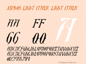Xiphos Light Italic