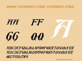 Xiphos Expanded Italic