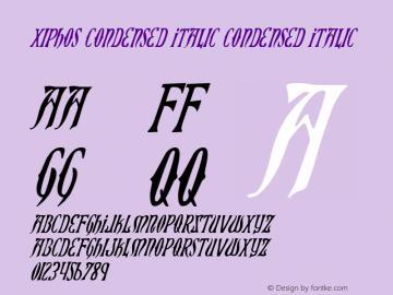 Xiphos Condensed Italic