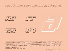 bad robot 3d italic