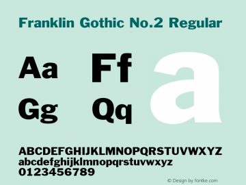 Franklin Gothic No.2