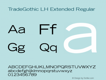 TradeGothic LH Extended