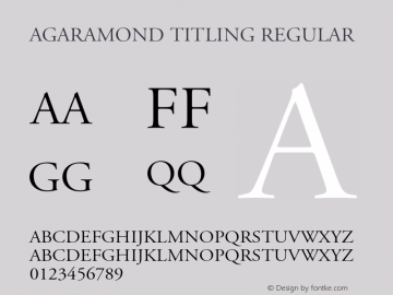 AGaramond Titling