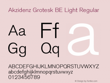 Akzidenz Grotesk BE Light