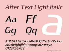After Text Light
