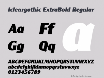 Icleargothic ExtraBold