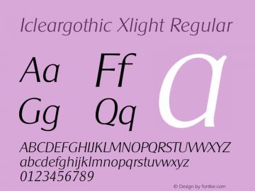 Icleargothic Xlight
