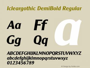 Icleargothic DemiBold