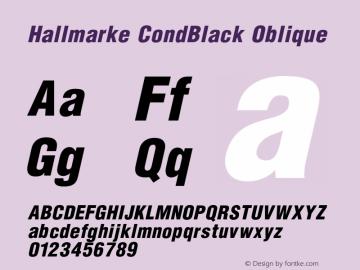 Hallmarke CondBlack