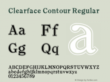 Clearface Contour