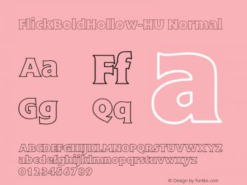 FlickBoldHollow-HU