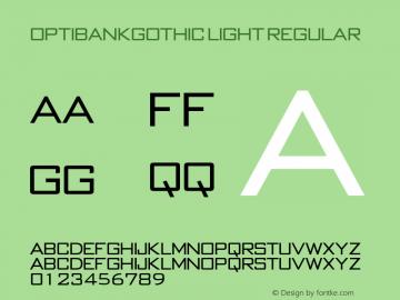 OPTIBankGothic Light