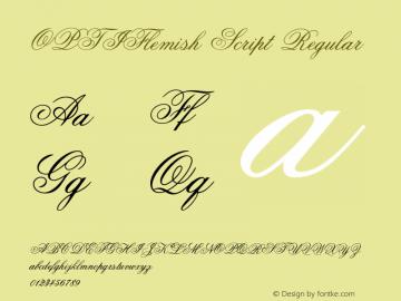 OPTIFlemish Script