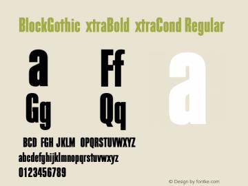 BlockGothicExtraBoldExtraCond