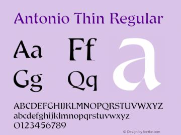 Antonio Thin