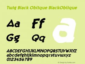 Twig Black Oblique