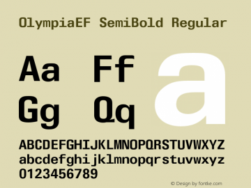 OlympiaEF SemiBold