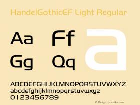 HandelGothicEF Light