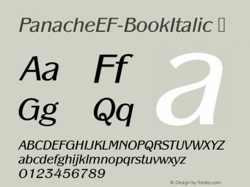 PanacheEF-BookItalic