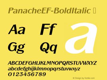 PanacheEF-BoldItalic