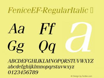 FeniceEF-RegularItalic