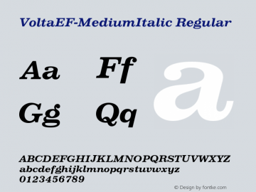 VoltaEF-MediumItalic