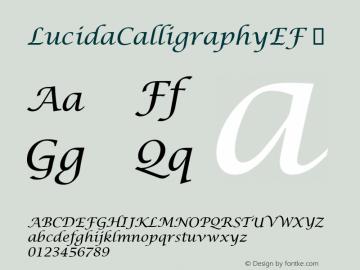 LucidaCalligraphyEF