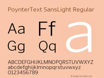 PoynterText SansLight