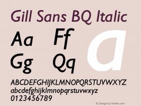 Gill Sans BQ
