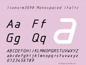 Isonorm3098 Monospaced