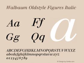 Walbaum Oldstyle Figures