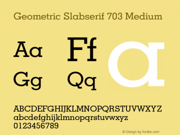 Geometric Slabserif 703